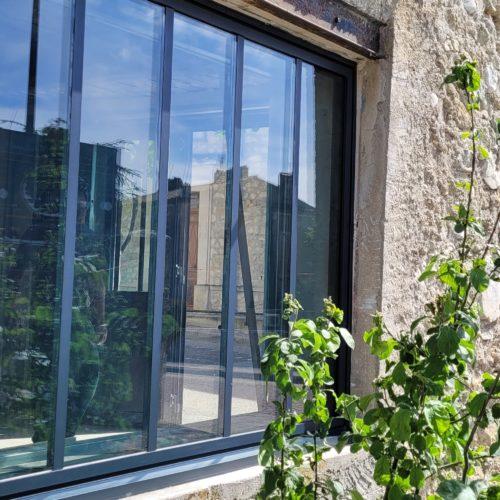 Fenêtre aluminium (châssis fixe)