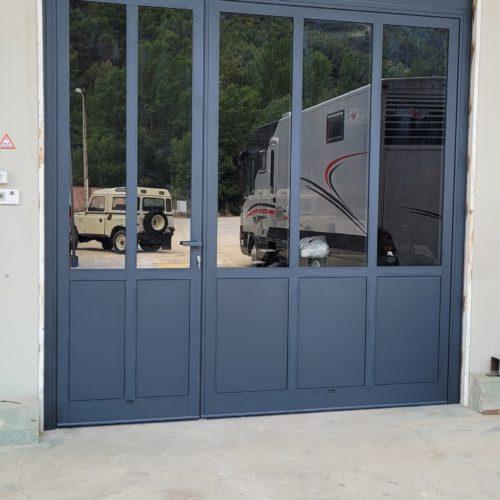Porte aluminium deux vantaux