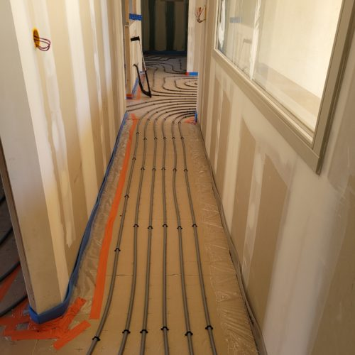Plancher chauffant sur construction neuve 4