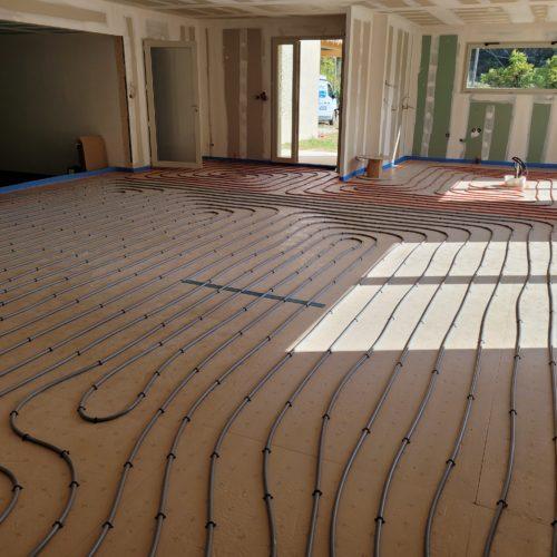 Plancher chauffant sur construction neuve 2